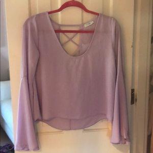 Purple flow top